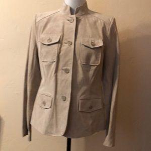 Style & Co. Genuine Leather Shell Jacket